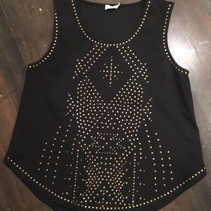 Tasha Polizzi stud shirt xl like new